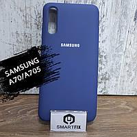 Силиконовый чехол для Samsung A70 / A705F Синий, фото 1