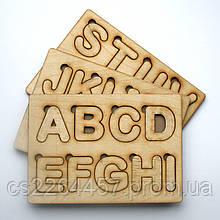 Азбука пазл из английских букв.