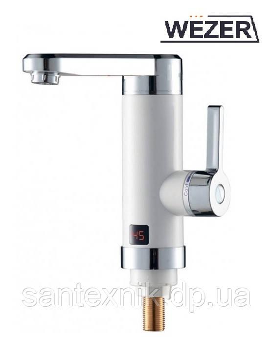 Кран-водонагреватель проточный Wezer SDR-H17T 3.0кВт 0,4-5бар ТЮЛЬПАН