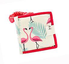 Развивающие книжки из фетра с фламинго, Тихая книжка на липучках, 10 страниц, фото 2