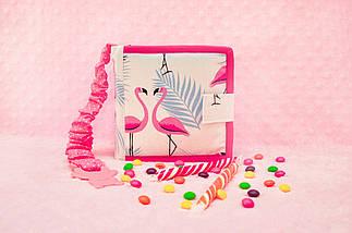 Развивающие книжки из фетра с фламинго, Тихая книжка на липучках, 10 страниц, фото 3
