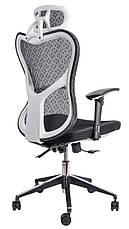 Офисный стул из сетки Barsky Fly-03 Butterfly White/Black, фото 2