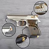 Пистолет сигнальный, стартовый Ekol Lady (9.0мм), сатин с позолотой, фото 2