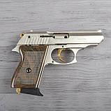 Пистолет сигнальный, стартовый Ekol Lady (9.0мм), сатин с позолотой, фото 3