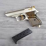 Пистолет сигнальный, стартовый Ekol Lady (9.0мм), сатин с позолотой, фото 9