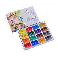 Акварельные краски художественные Сонет 16 цветов по 2,5мл. (Невская Палитра)