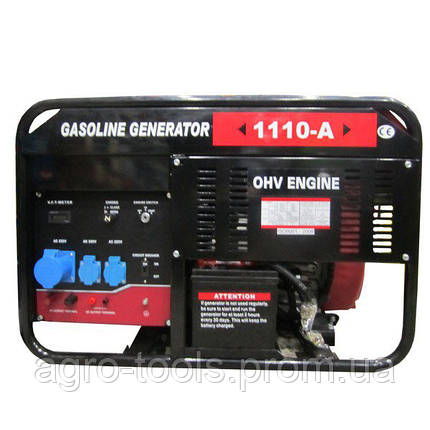 Бензиновий генератор Weima WM1110-A (9,5 кВт, 1 фаза, ручний старт), фото 2