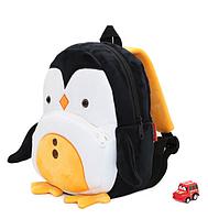 """Рюкзак для любимых малышей """"Пингвин"""" дошкольный мягкий плюшевый качественный легкий черно-белый унисекс"""