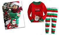 Піжами для дівчаток та хлопчиків у стилі Різдва