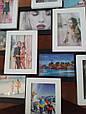 Деревянная мультирамка для фото 12 в 1 Руноко Зигзаг Белое и Черное, фото 6