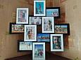 Деревянная мультирамка для фото 12 в 1 Руноко Зигзаг Белое и Черное, фото 3