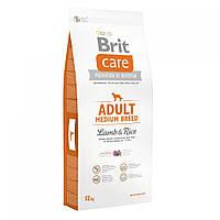 Сухий корм Brit Care (Брит Кеа) Adult Medium Breed Lamb & Rice для собак середніх порід (ягня і рис)