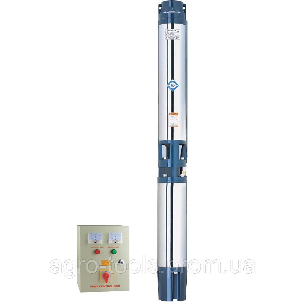 Насос центробежный скважинный 380В 15кВт H 128(75)м Q 1000(750)л/мин Ø151мм AQUATICA (DONGYIN) (7776673)