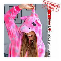 Оригинальная пижама кигуруми Единорог розовый Unicorn Slip Pink все размеры в наличии