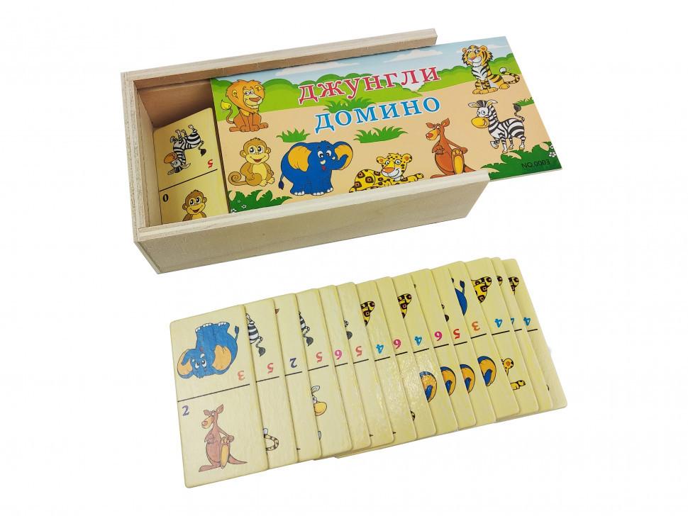 Настольная игра Домино деревянное MD 2482-5 Джунгли