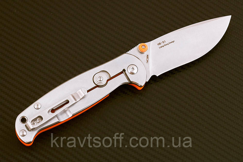 Нож складной H6-S1 orange-7776 + ТОЧИЛКА