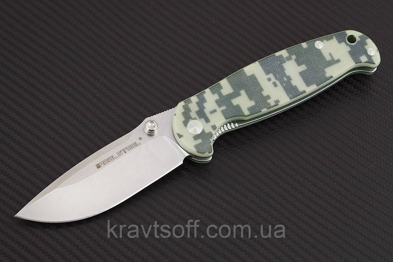 Нож  складной H6 camo bright-7767 + В ПОДАРОК РУЧНОЙ ФОНАРЬ