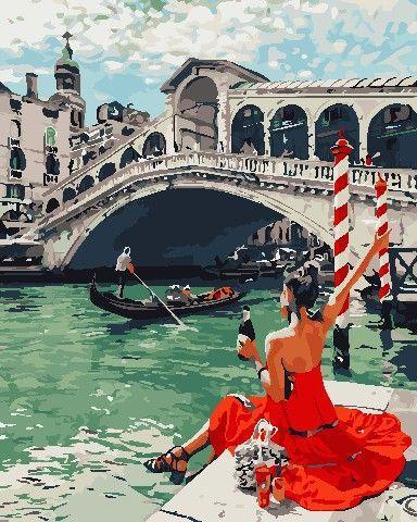 Картина рисование по номерам ArtStory Праздник в Венеции 40х50см AS0698 набор для росписи, краски, кисти,