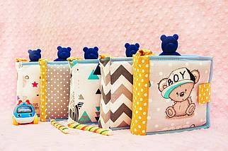 Развивающая книжка с мишкой Тедди, мягкие книжки Handmade, 10 страниц, фото 3
