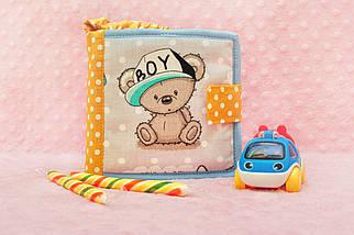 Розвивальча книжка з ведмедиком Тедді, м'які книжки Handmade, 10 сторінок, фото 2