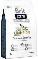 Сухой корм Brit Care (Брит Кеа) Dog Show Champion гипоаллергенный корм для взрослых выставочных собак (лосось)