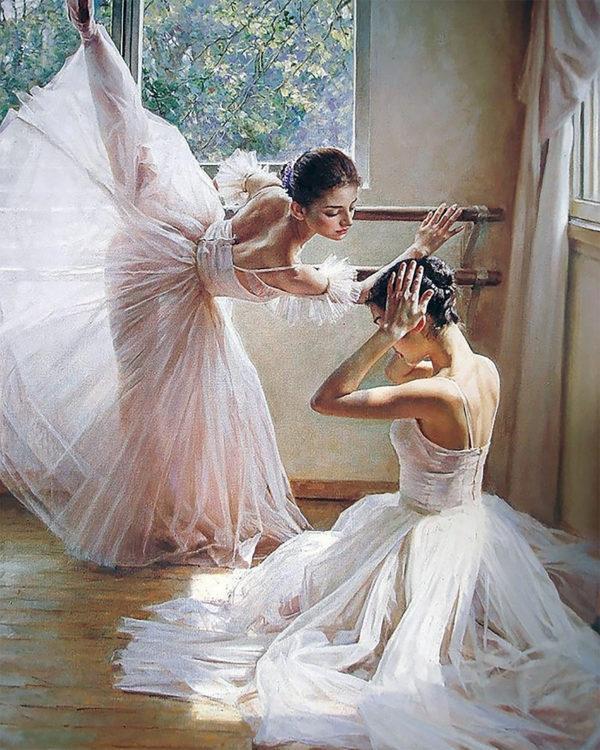Картина рисование по номерам Чарівний діамант Перед премьерой РКДИ-0218 40х50см набор для росписи, краски,