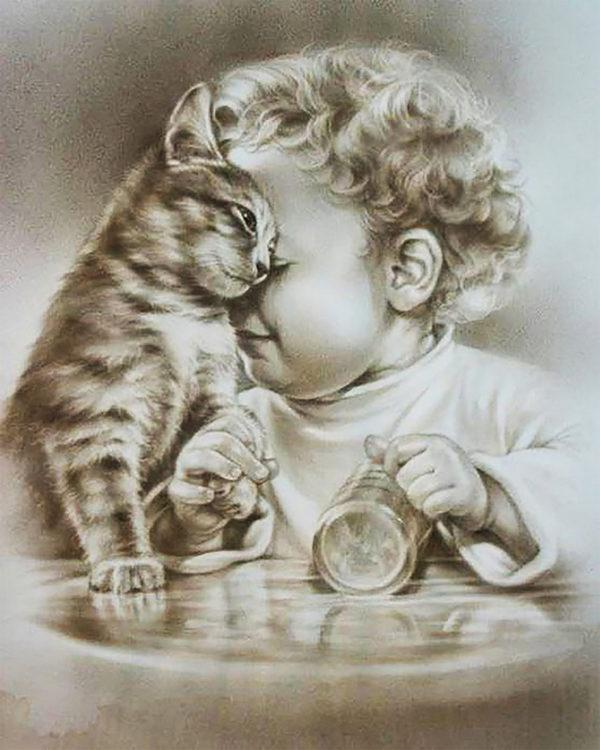 Картина рисование по номерам Чарівний діамант Верный друг РКДИ-0244 40х50см набор для росписи, краски, кисти,