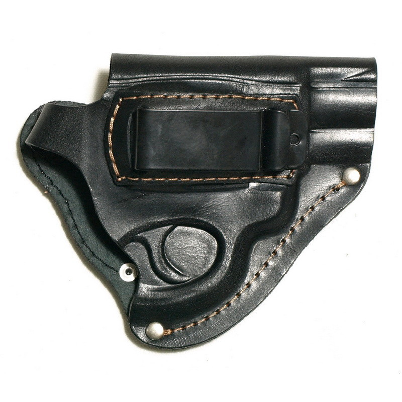 Поясна кобура для револьвера зі скобою для прихованого носіння, шкіра