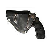 Поясна кобура для револьвера зі скобою для прихованого носіння, шкіра, фото 2