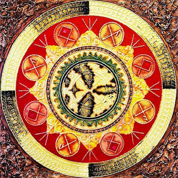 Картина рисование по номерам Чарівний діамант Мандала – Исполнения  желаний РКДИ-0131 40х40см набор для