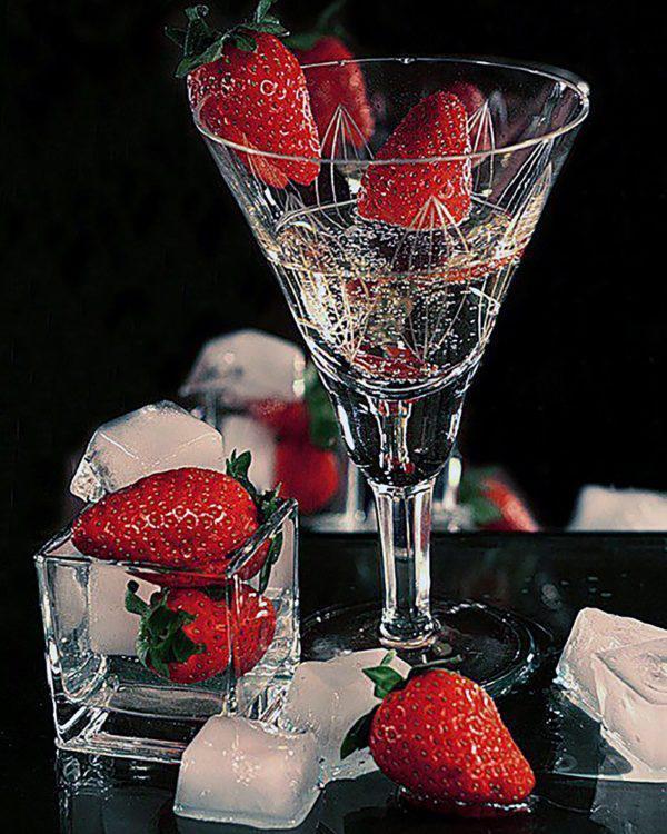 Картина рисование по номерам Чарівний діамант Клубника и лед РКДИ-0126 40х50см набор для росписи, краски,