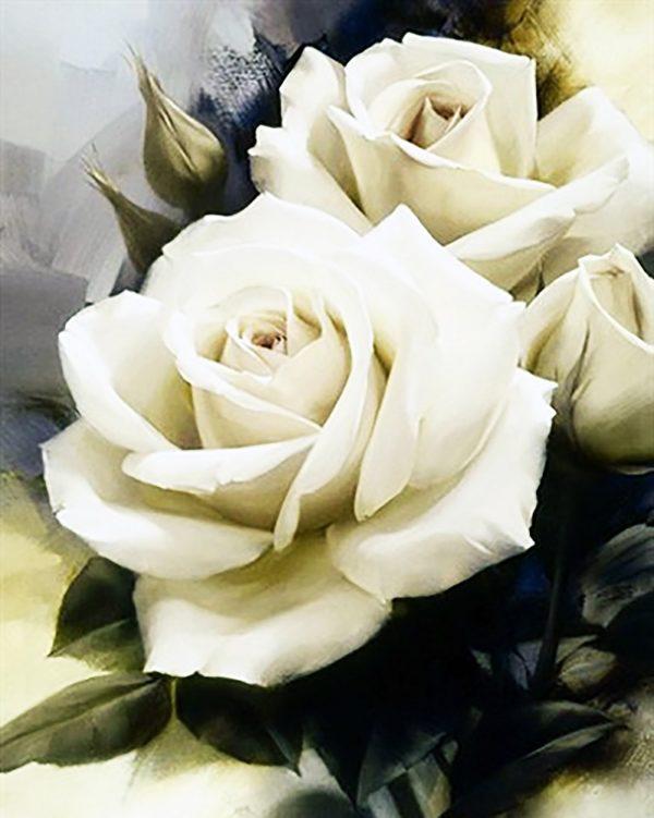 Картина рисование по номерам Чарівний діамант Нежность роз РКДИ-0041 40х50см набор для росписи, краски, кисти,