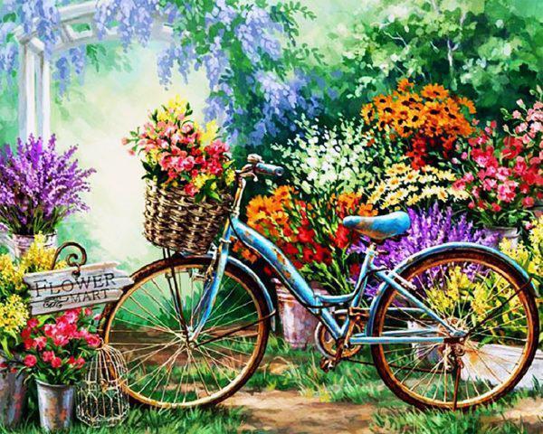 Картина рисование по номерам Чарівний діамант Весенние цветы РКДИ-0076 40х50см набор для росписи, краски,