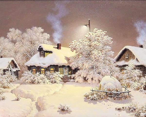 Картина рисование по номерам Чарівний діамант Зимний тихий вечер РКДИ-0056 40х50см набор для росписи, краски,