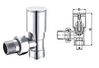 """Кран вентильный угловой с американкой SOLOMON 3/4"""" CHROM 1845 вент."""