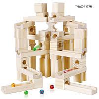 Развивающая деревянная игрушка конструктор 80 штук