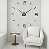 """Настенные часы 3D Большие """"Delta"""" - часы наклейка с зеркальным эффектом, необычные настенные часы стикеры, фото 2"""