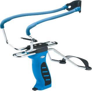 Рогатка Man Kung MK-SL06BL з упором синя