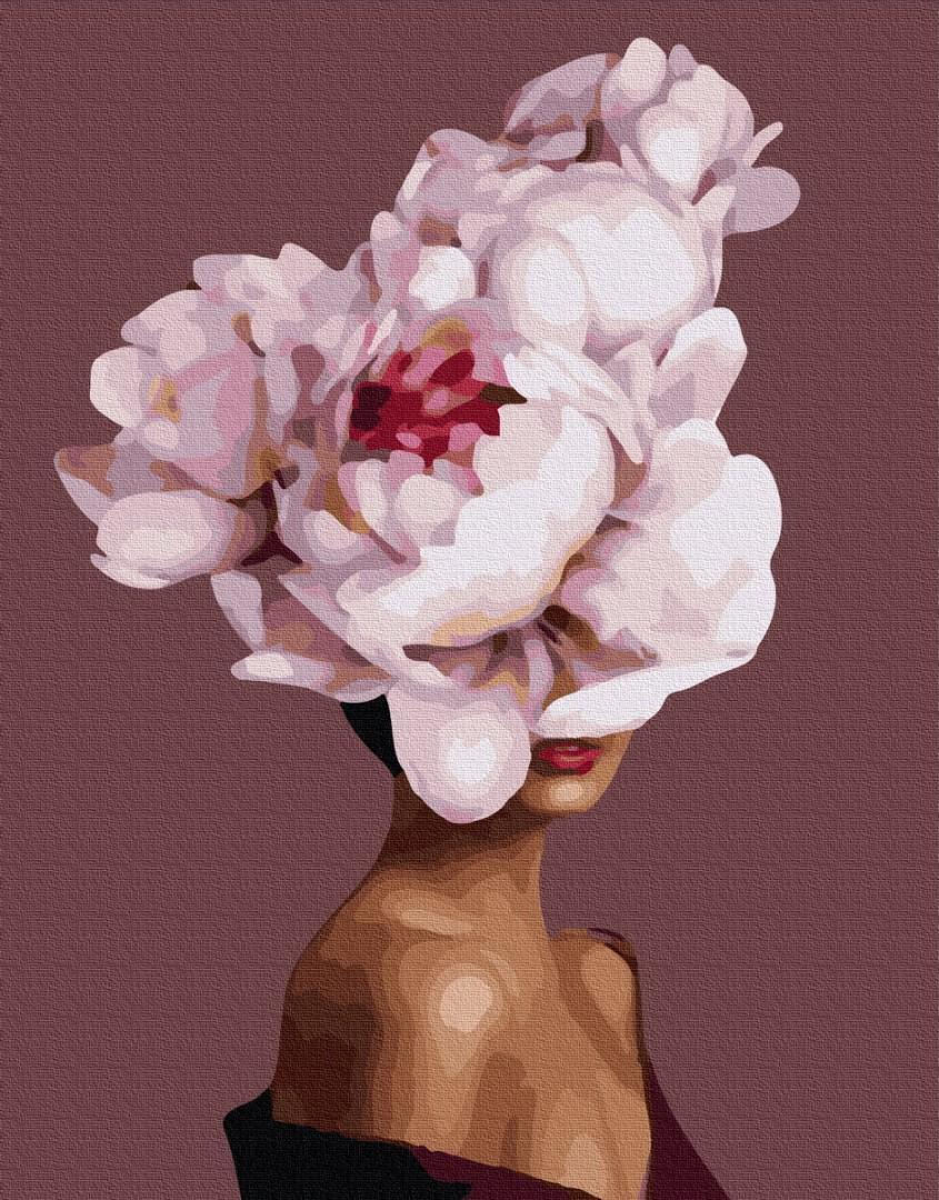 Картина рисование по номерам Пион во мне BK-PGX36692 набор для росписи, краски, кисти, холст