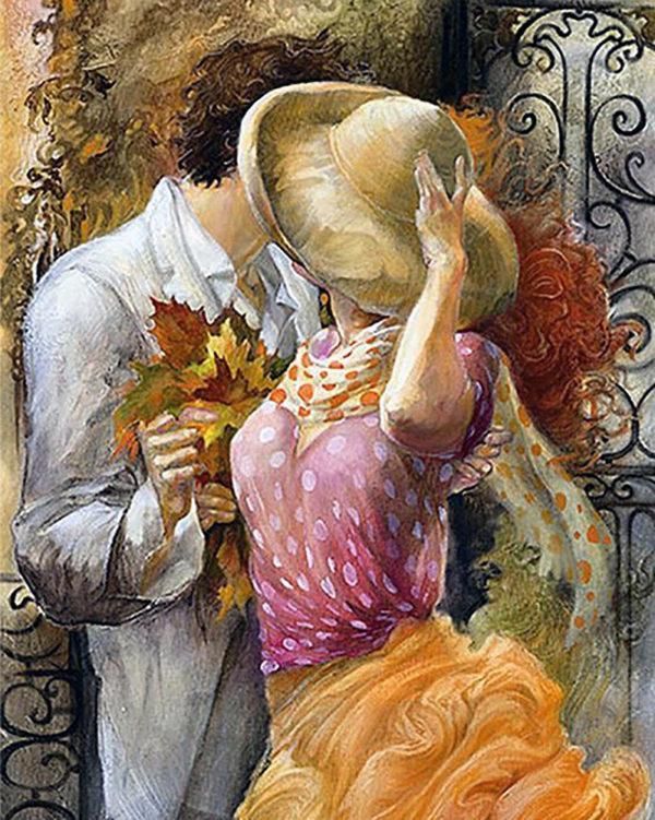 Картина рисование по номерам Чарівний діамант Свидание РКДИ-0275 40х50см набор для росписи, краски, кисти,