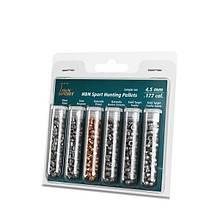 Тестовый набор пуль для пневматики 4,5 ммH&N Hunting Pellets (6 видов)