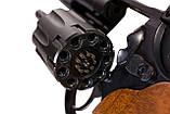 Револьвер me-38 magnum 4r чорний дерев'яна рукоятка, фото 5
