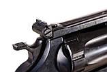 Револьвер me-38 magnum 4r чорний дерев'яна рукоятка, фото 7