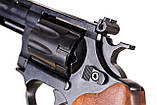 Револьвер me-38 magnum 4r чорний дерев'яна рукоятка, фото 8