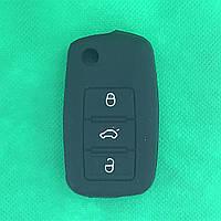 Чехол выкидного авто ключа для VOLKSWAGEN Passat, Caddy, Jetta, Golf (Фольксваген Пассат, Кадди) 3 - кнопки