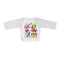 Распашонка детская цветная на кнопках в для девочки интерлок