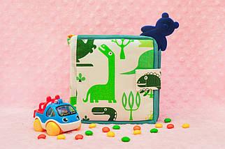 Фетровая книга с динозавром, Мягкие книжки Handmade, 10 страниц, фото 3
