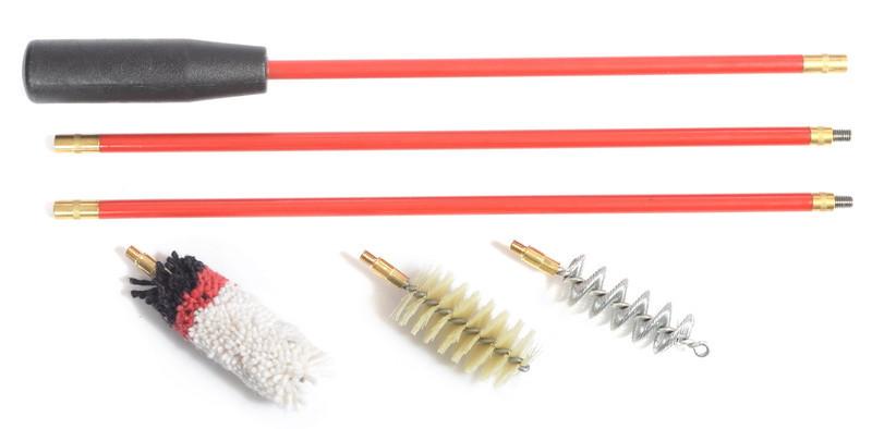 Набор для чистки ружья 12 калибра шомпол в оплетке и 3 ерша (ПВХ упаковка)