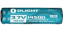 Акум. батарея Olight 14500 3,7 V 750mAh