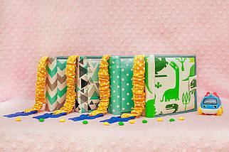 Мягкие книжки для детей до года, Книга из ткани Handmade, 10 страниц, фото 3